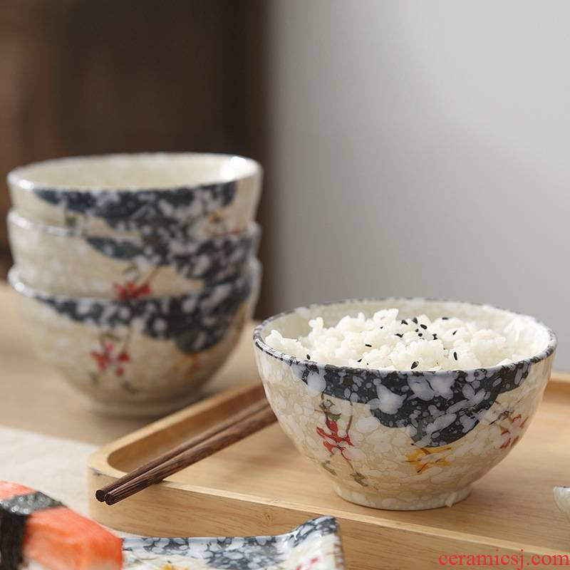 Japanese snow under glaze color porcelain tableware household small bowl of rice bowls of creative move breakfast bowl dessert bowl of individual