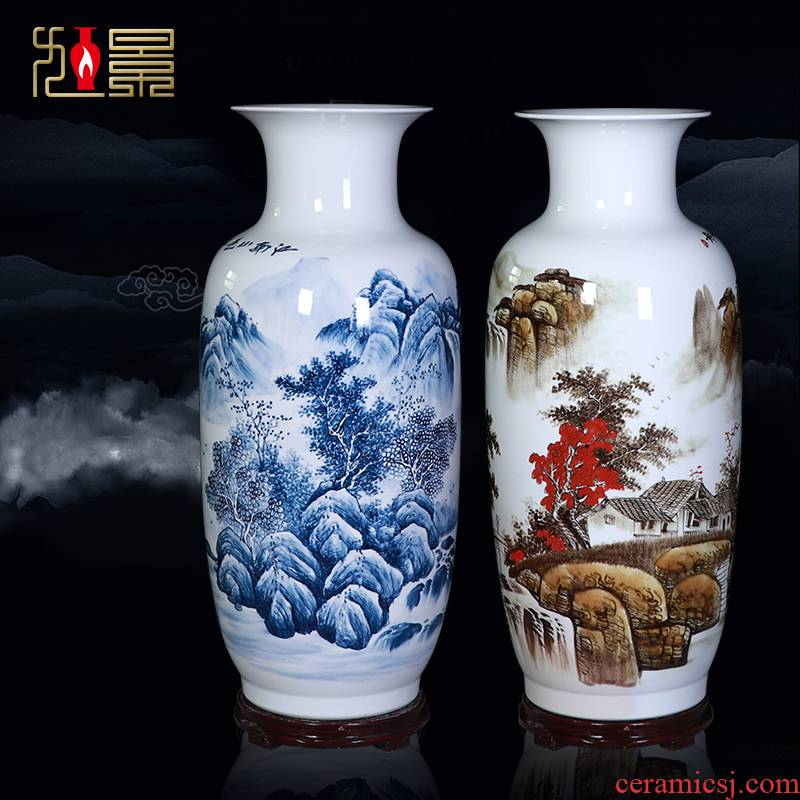 Jingdezhen famous hand - made ceramic vase of large sitting room porch decorate TV ark, furnishing articles company arranging flowers
