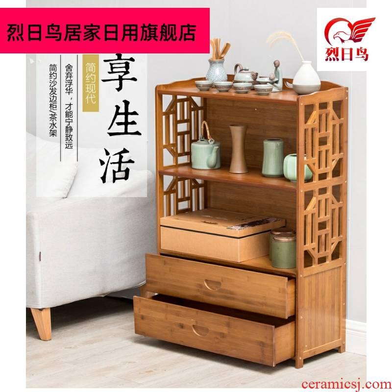 Contracted sofa edge ark, small tea sets tea tea frame frame put small tea tea cabinet shelf rack shelf