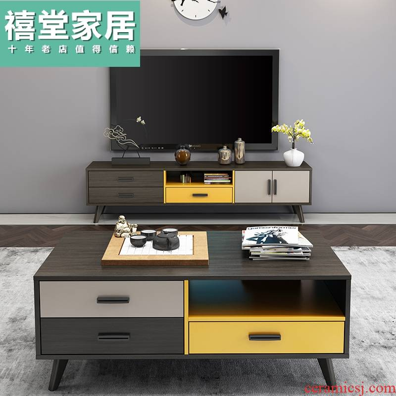 Boreal Europe style of tea table size of TV ark, combination of I and contracted family TV cabinet sitting room furniture