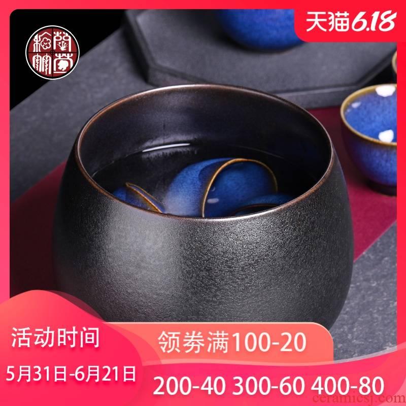 Tea Tea wash your Japanese ceramic size variable retro cup zen Tea accessories in hot water jar household barrel