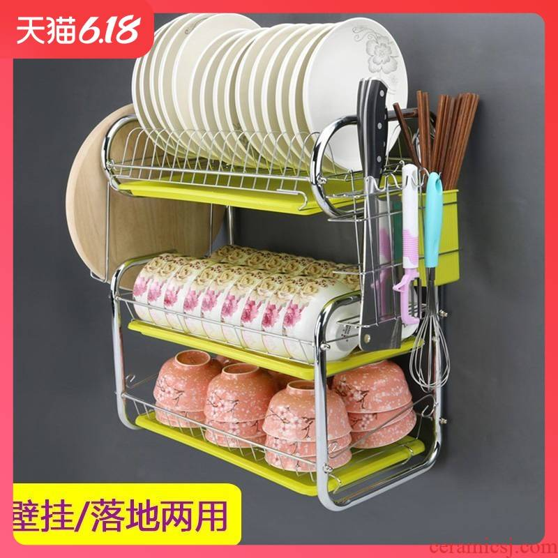 Huang qian plate rack rack hanging wall type kitchen drain bowl tapping frame hang wall cupboard shelf wall hung, the dishes