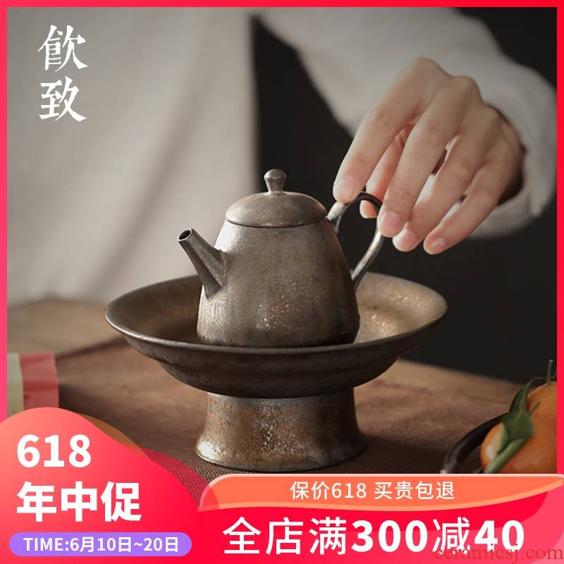 Ultimately responds to gold compote pot bearing coarse TaoGan table storage type as ceramic pot pot water tea tea restoring ancient ways