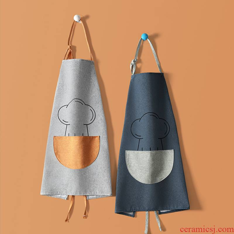 Contracted Japanese kitchen tea cooking apron cloth art han edition fashion and lovely flower shop drawing overalls corset