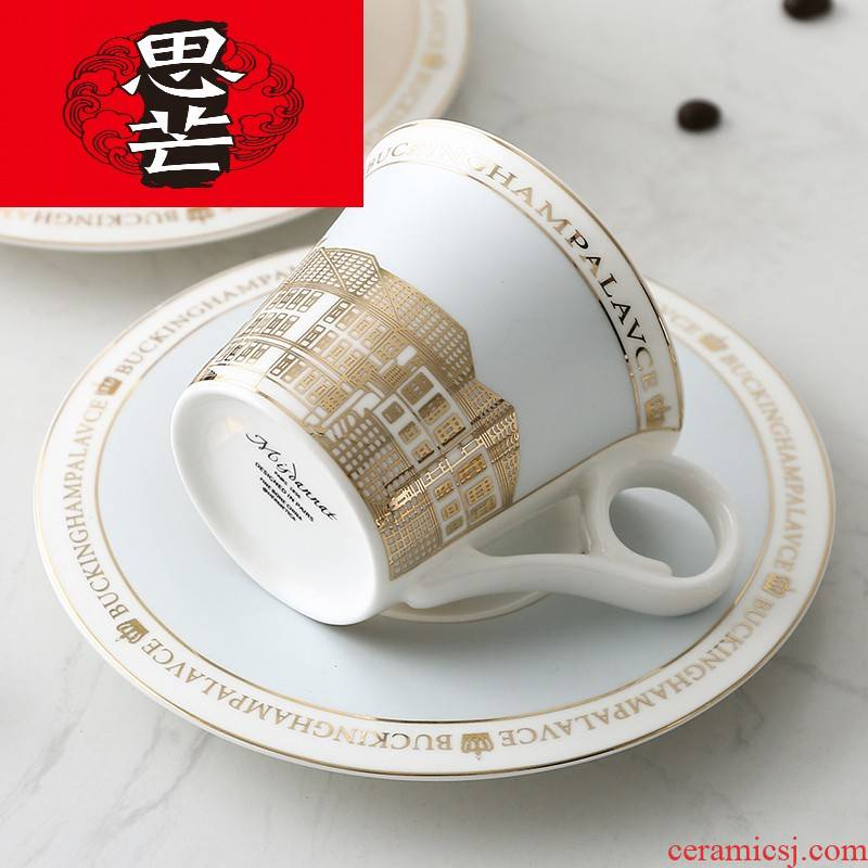 Thinking mans small European - style key-2 luxury ipads porcelain cup coffee cup dish of household ceramics court wind afternoon tea cups with disc