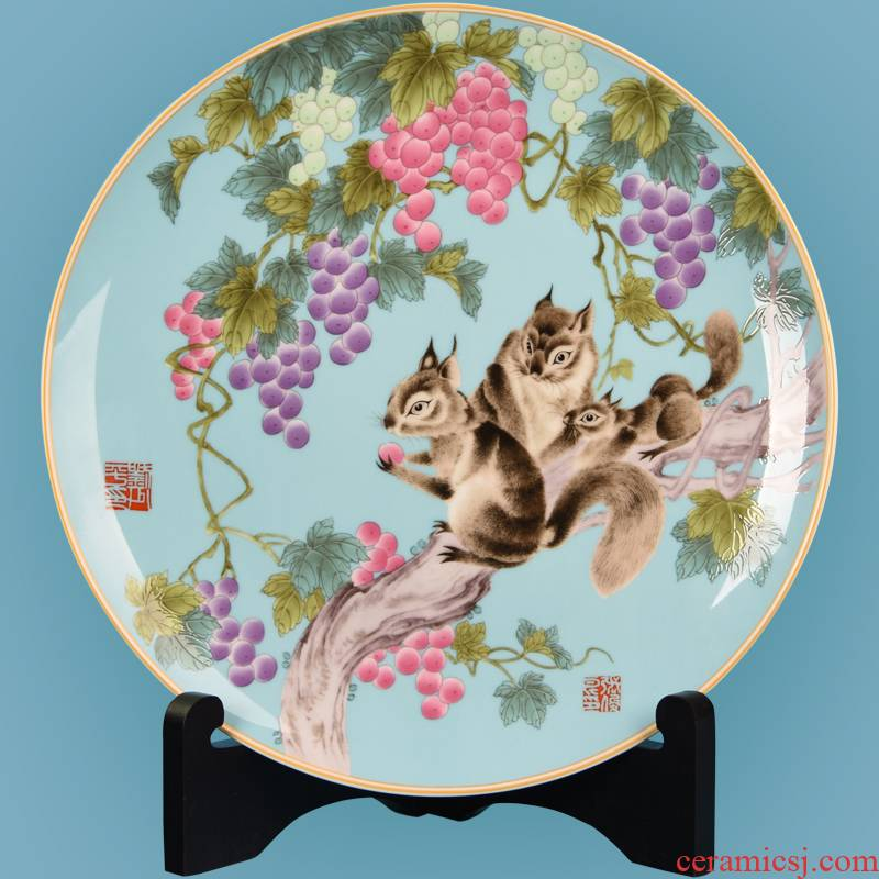 Year of the rat mascot desktop furnishing articles furnishing articles ceramic plate of creative gift decoration shao - ping liu, rat bumper harvest