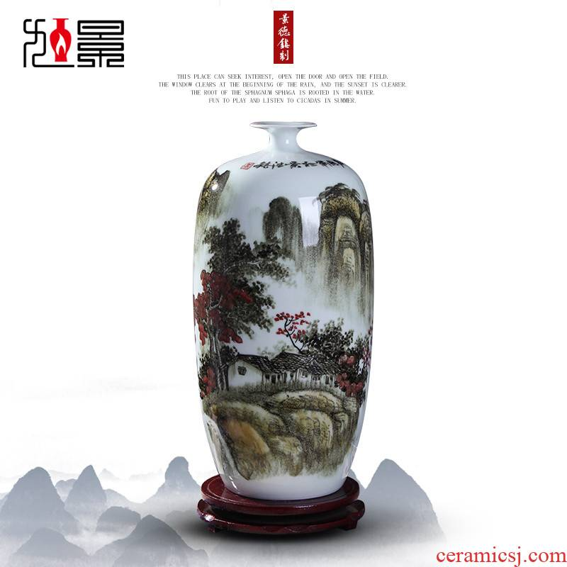 Xu jing, the hand - made ceramic vase household decorations furnishing articles jingdezhen small living room TV cabinet type flower arrangement