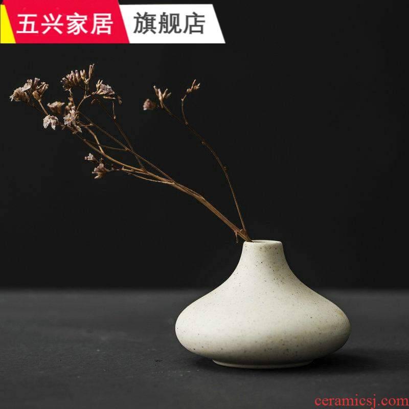 Japanese coarse pottery hand - made vases retro zen desktop flower, flower hydroponic flowers inserted ceramics handicraft furnishing articles