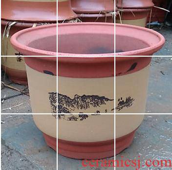 Cm in diameter is suing contracted oversized traditional manual cycas clay purple sand flowerpot stout ceramic flower POTS