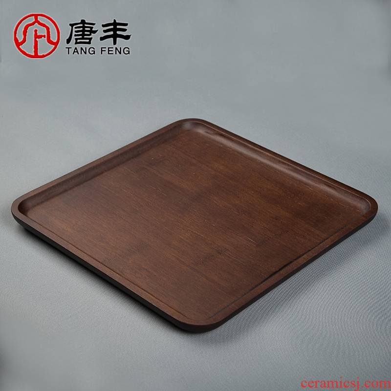 Tang Feng bamboo tea tray was retro contracted saucer individual household Japanese is suing portable dry mercifully tea tray