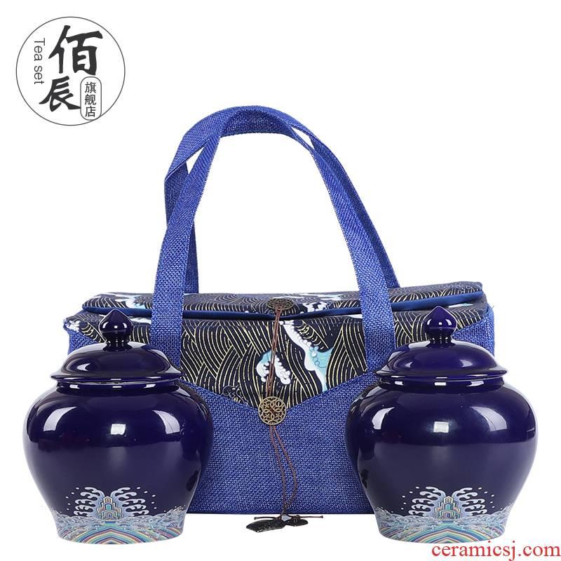 Tea packaging gift box aneroid general general ceramic Tea pot storage tank sealing half jins bag gift box
