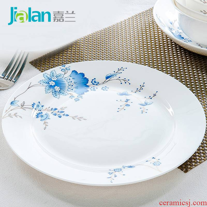 Garland ipads China 10 inches large west plate cold dishes tangshan ceramic plate plates creative steak plate of household