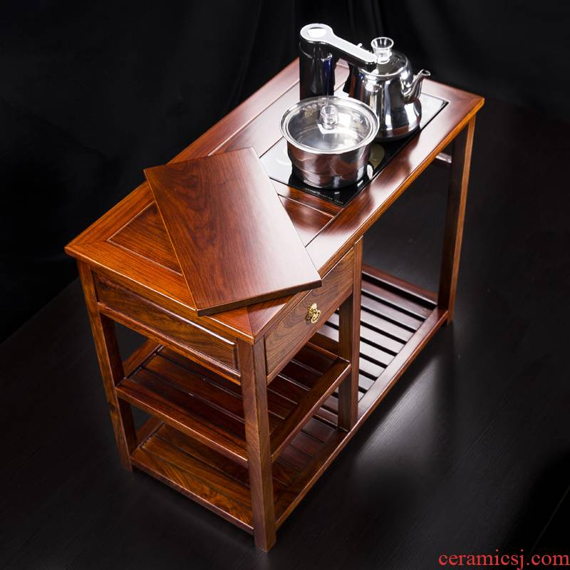Hua limu tea tank multi - function solid wood tea table edge ark, electric tea stove stents, hedgehog rosewood tea sets tea B