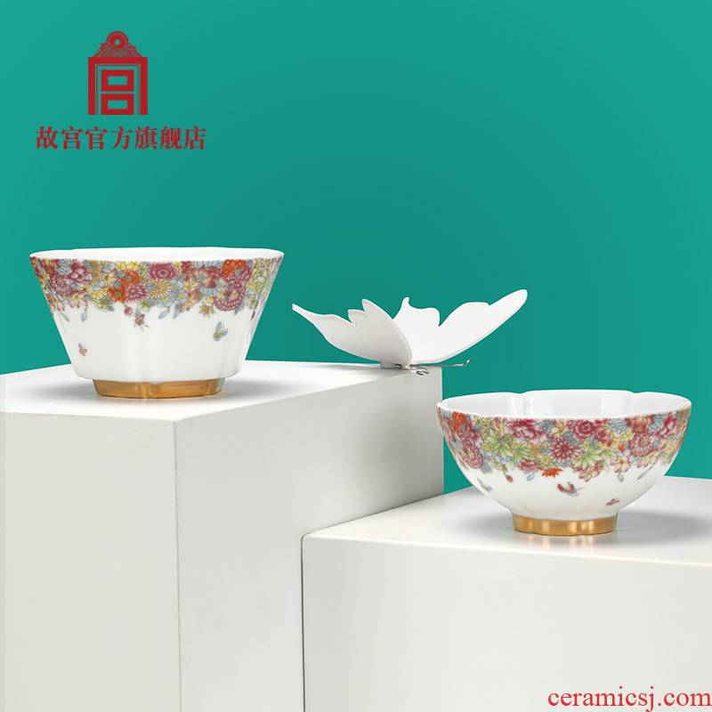 The Forbidden City, full of cup suit jingdezhen porcelain teacup suit The national Palace Museum official flagship store