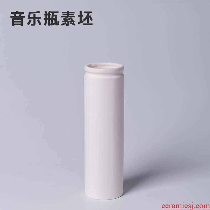 Element billet music bottle bar ceramic pottery made pottery art would DIY plain grey