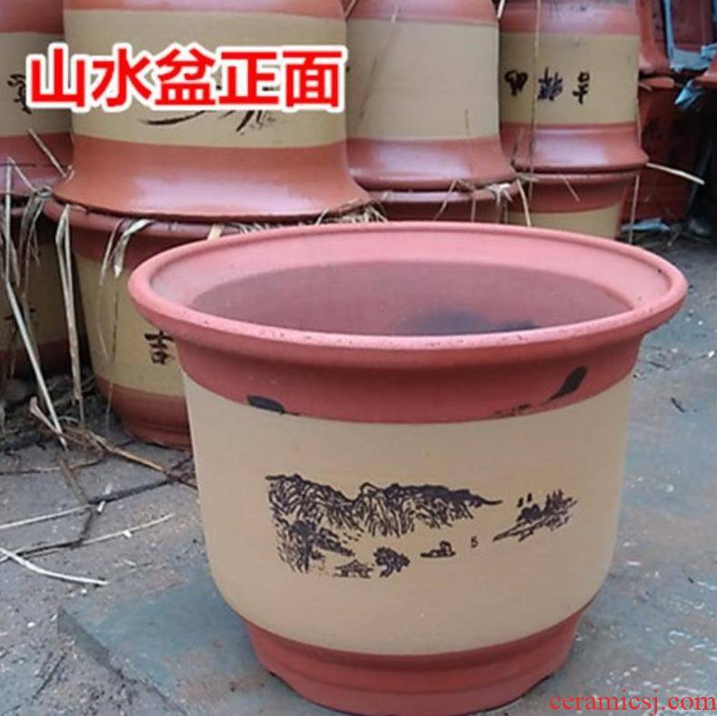 Ceramic orchid flowers miniascape flower pot red sand green plant POTS of sitting room other red porcelain vase
