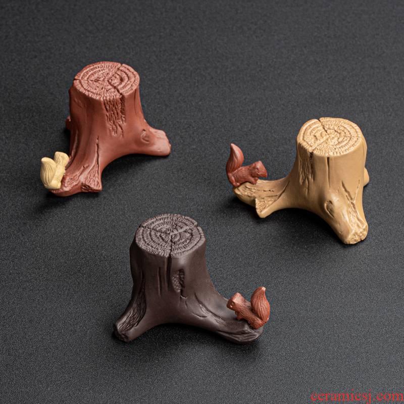 Creative purple squirrel guy buy tea bijia household small place lid ChaGa kung fu tea accessories with zero