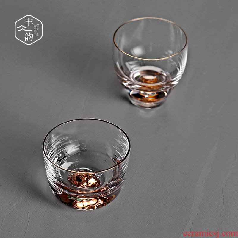 Move Japanese heat - resistant glass cups kung fu tea master cup men 's and women' s sample tea cup transparent single cup home