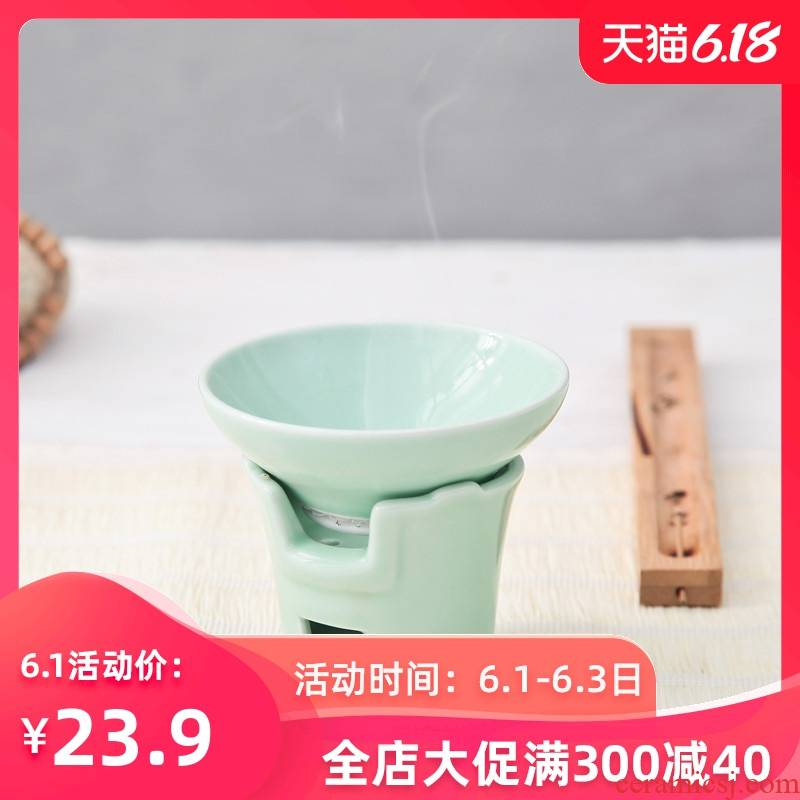 Celadon kung fu tea accessories) ceramics filter filter mesh tea tea tea tea filter is good