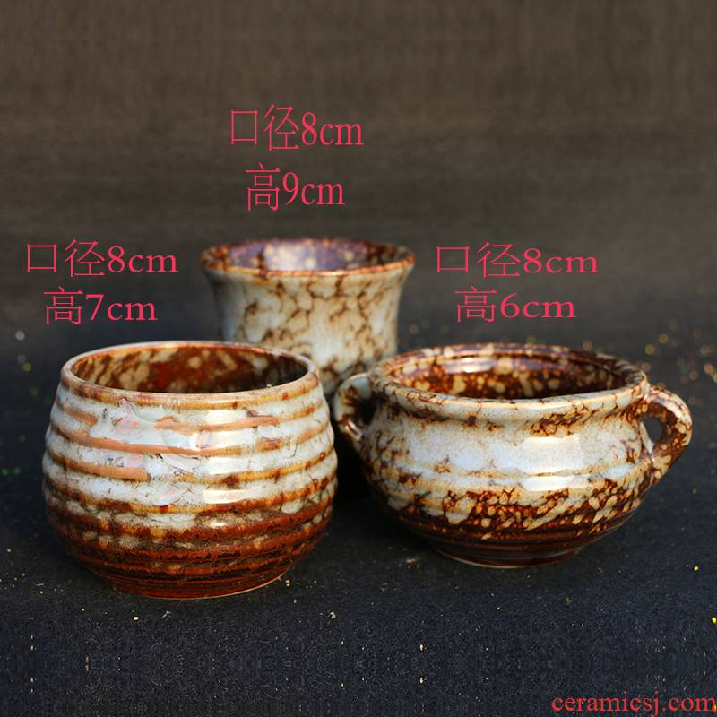 Large caliber fleshy flowerpot combo platter suit contracted ceramic old small creative move running the green plant indoor flower pot