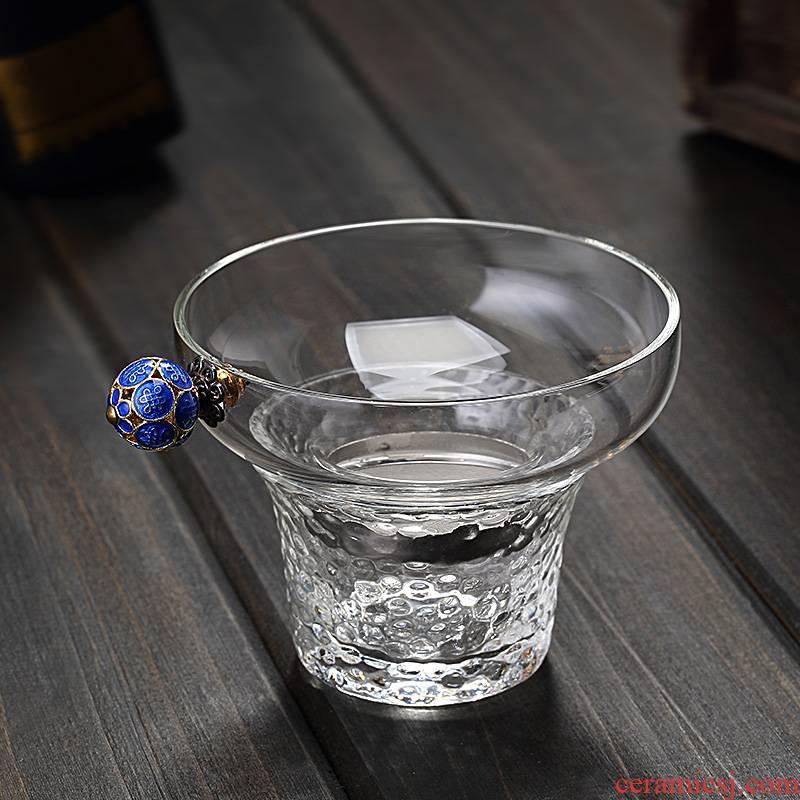 Creative tea filter glass) tea suit household kung fu tea accessories tea tea filter hammer apparatus