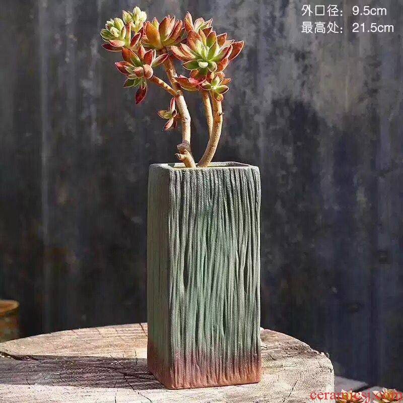 Old coarse pottery, fleshy running the flowerpot ceramic special butterfly orchid orchid breathable restoring ancient ways household creative green plant bonsai POTS