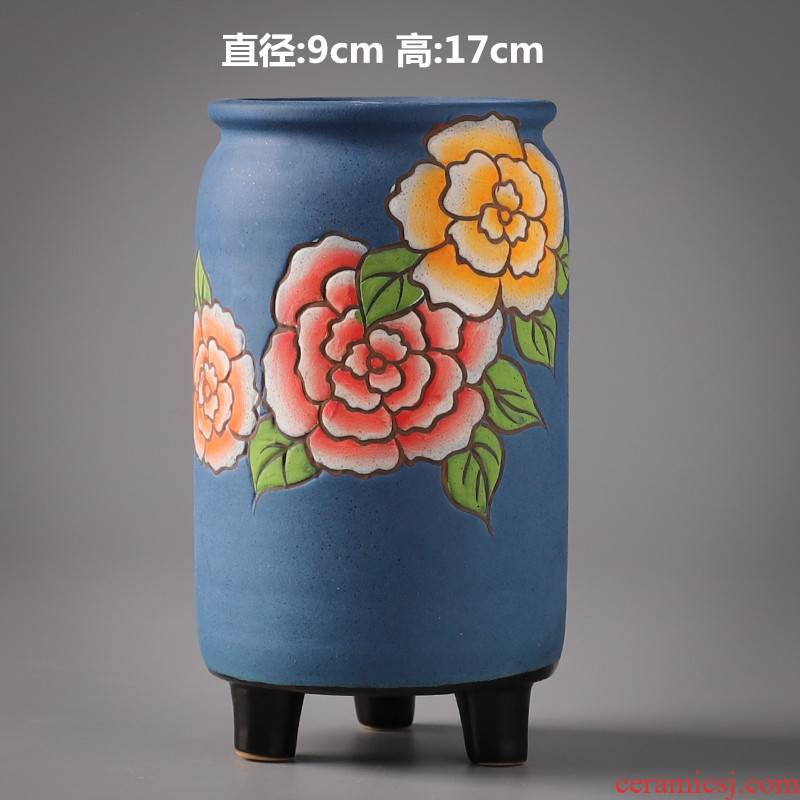 The Fleshy old ceramic large special offer a clearance of large - diameter running the flowerpot hand - made coarse pottery breathable meaty plant flower pot
