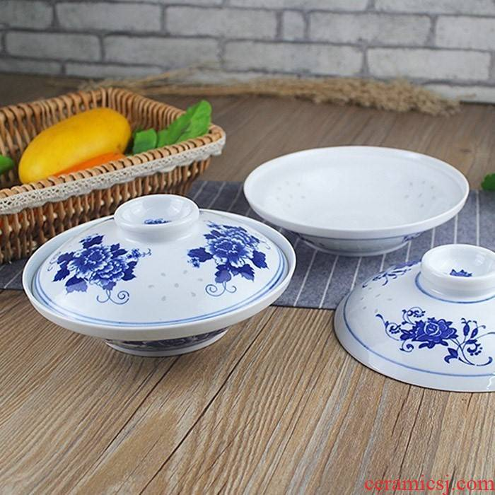 Blue and white and exquisite 7 8 inches with cover ceramic dish dish home insulation insect - resistant zero cover plate of the ceramic disc B,