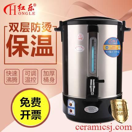 30 l coagulator bucket high - capacity ltd. stainless steel electric heating KaiShuiTong milk tea barrel heat insulation barrels hot water