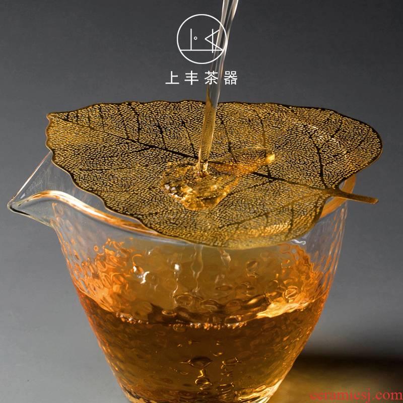 On an abundant bodhi leaf tea filter) tea filters filter good kung fu tea accessories copper alloy