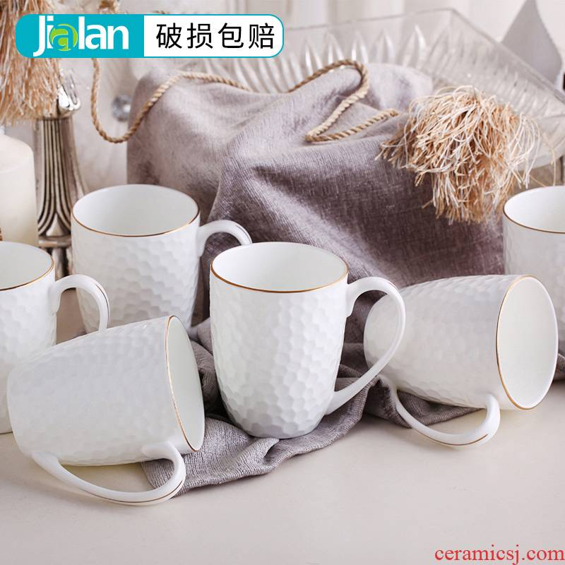 Garland ipads porcelain cup keller up phnom penh office of pure ceramic cup cup of household water cup cup Europe type