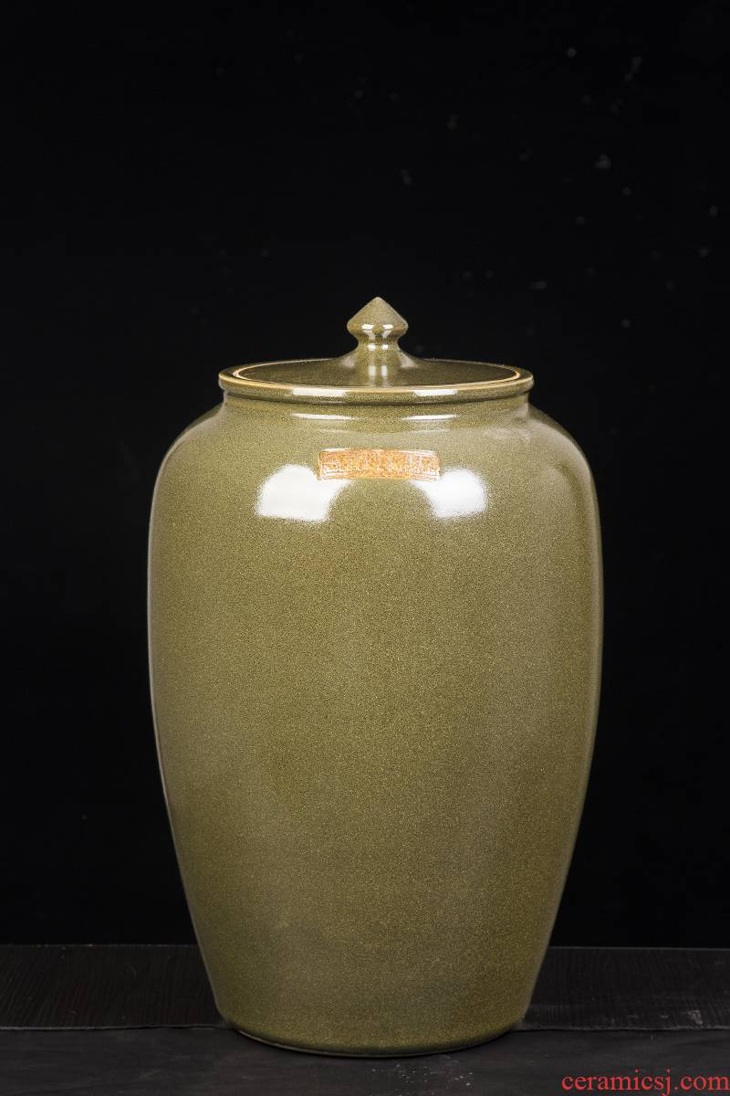 Jingdezhen ceramic barrel ricer box ceramics with cover 20 jins 30 jins of 50 kg 100 jins tank storage tank