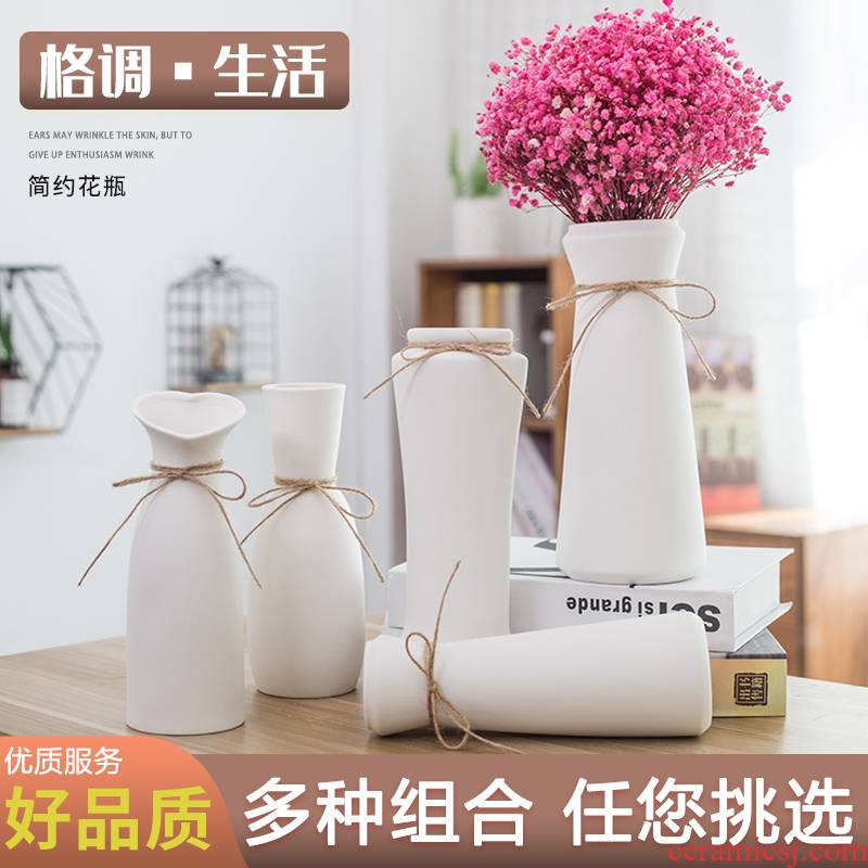Dry flower vase furnishing articles sitting room small hydroponic flower arranging contracted the modern household ideas all over the sky star, ceramic decoration