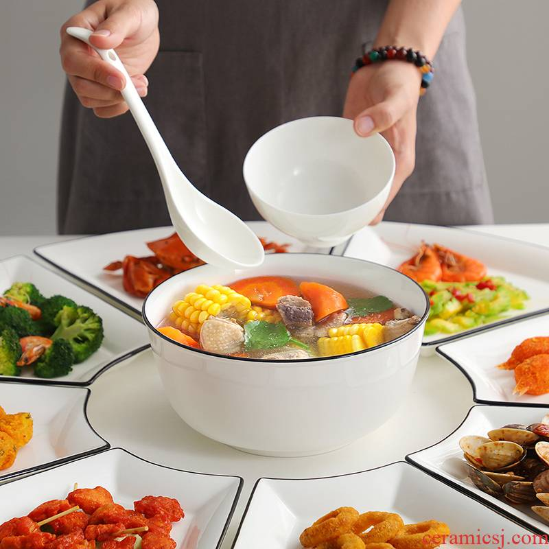 0 household ceramic table reunion suits for the trill web celebrity platter hotel tableware portfolio dinner fan - shaped plate