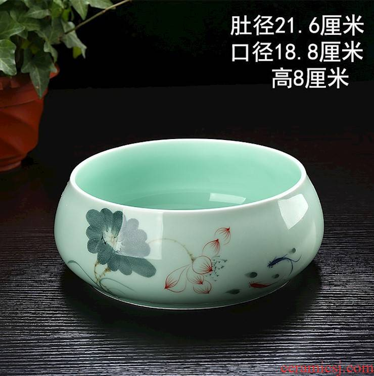 Tea to wash to the Japanese zen wear - resisting the visitor room sitting room tools for wash cup porcelain basin detong cup Tea table table