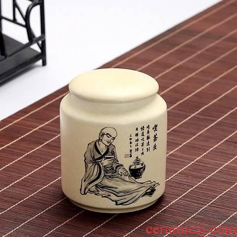 Medium ceramic big expressions using sealed storage tank puer tea caddy fixings storehouse wake tea, black tea tea box of coarse pottery tea pot