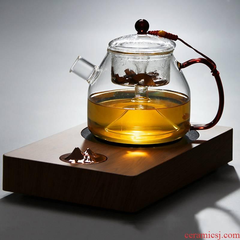 Electric TaoLu steam boiling kettle black tea designed dual tea heat - resistant puer tea with a suit web celebrity home glass