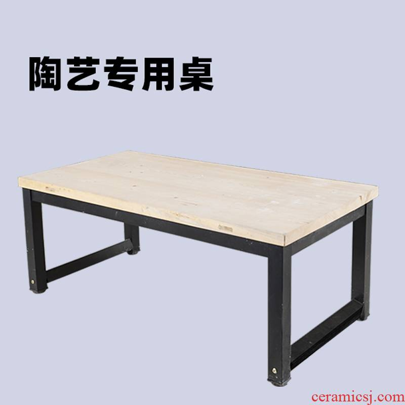 Ceramic table of ark of wooden desk chair on the display cabinet customizable bar Ceramic art classroom