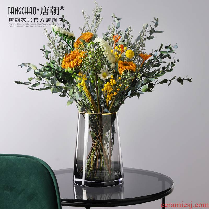 Nordic life simulation flowers sunflower seasoned millet mush sitting room indoor table what dry flower arranging flowers decorated with artificial flowers