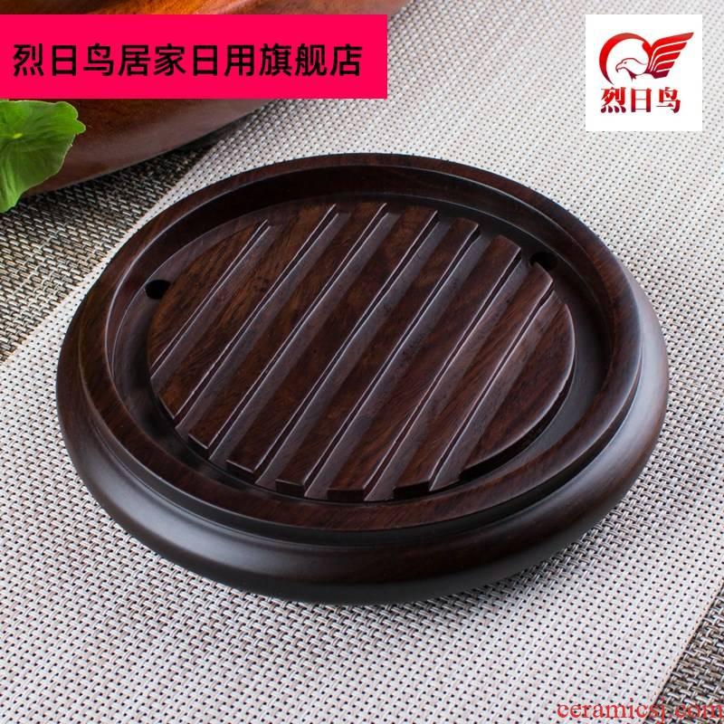 Solid wood ebony teapot mat pot bearing insulation kung fu tea pot of tea pot frame foster pot pad spare parts for the tea taking