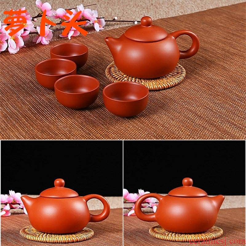 Yixing teapot pure manual suit xi shi pot it vesicles suit ceramic tea set filter to send 4 cups