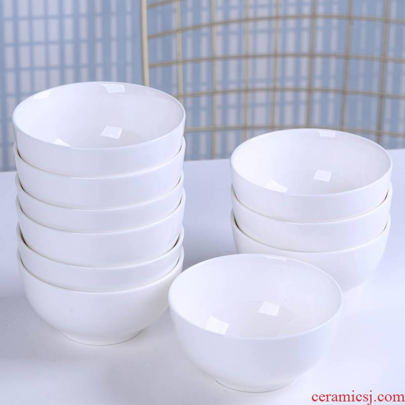 White household jingdezhen ceramic bowl of a single small bowl of soup bowl bird 's nest to eat sauce bowl rice bowls dishes suit