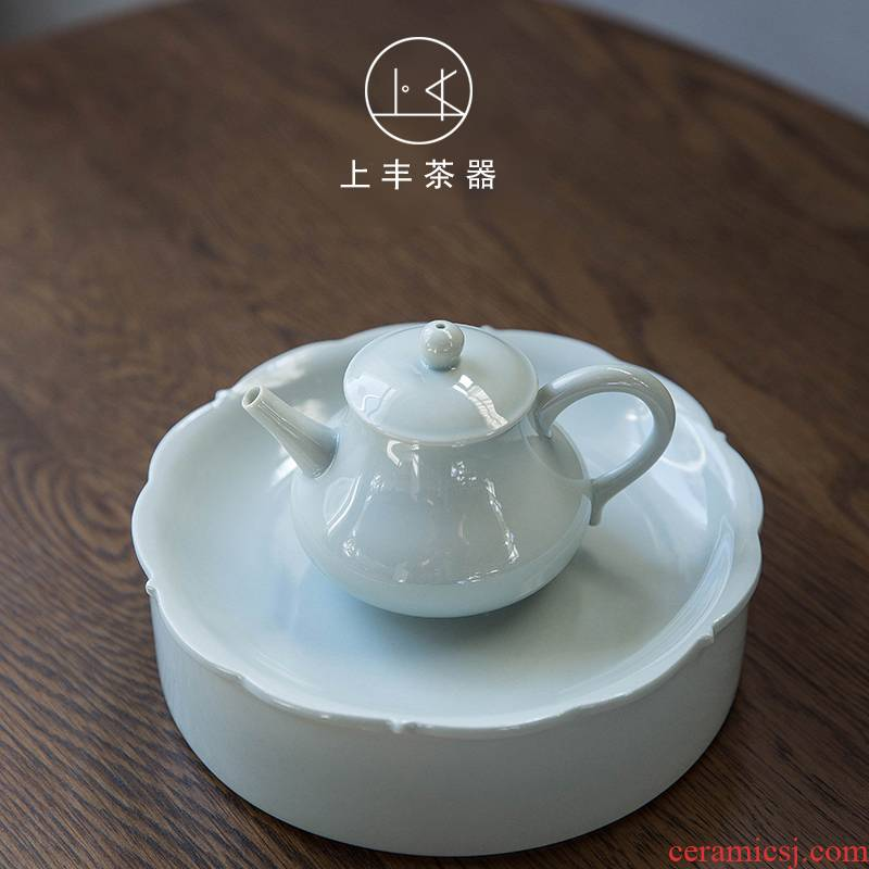 Feng pot bearing on dry terms plate storage keep pot pad Japanese tea pot pad round rectangular large celadon tea saucer