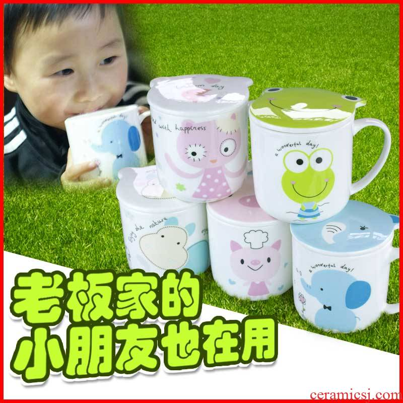 The Children keller CPU carries small household ceramic cup with lid cartoon ipads China lovely baby milk ultimately responds