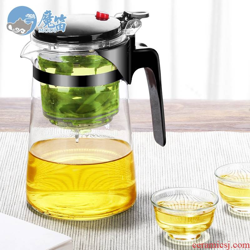 The flute and elegant glass tea cup teapot tea cup office high - temperature tea to household to filter The teapot