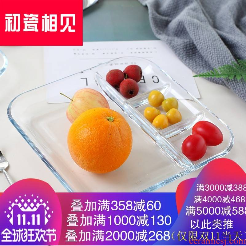 Creative household porcelain meet each other at the beginning of the compartment plate with vinegar sauce dish dumpling dish fast food dish dish dish western food steak dish