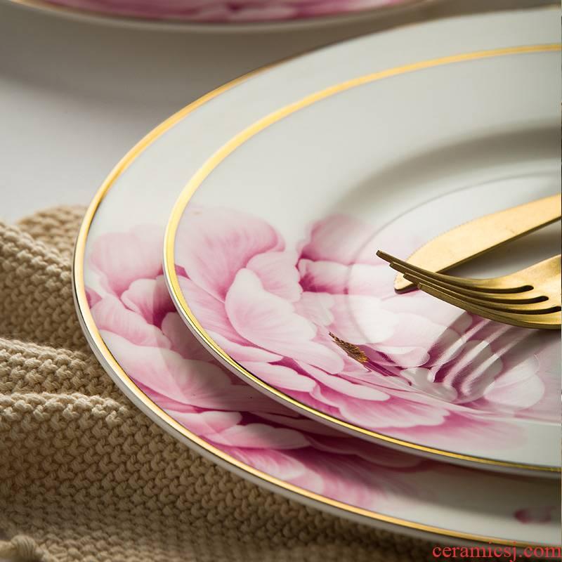 Ming litres of jingdezhen ceramic dish dish dish dish European tableware suit household jobs creative dish of fish ipads plate