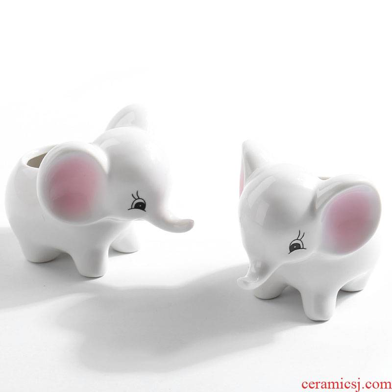 Little like cat white animal flowerpot more meat sheep ceramic creative move and lovely delicate and special offer a clearance Nordic style