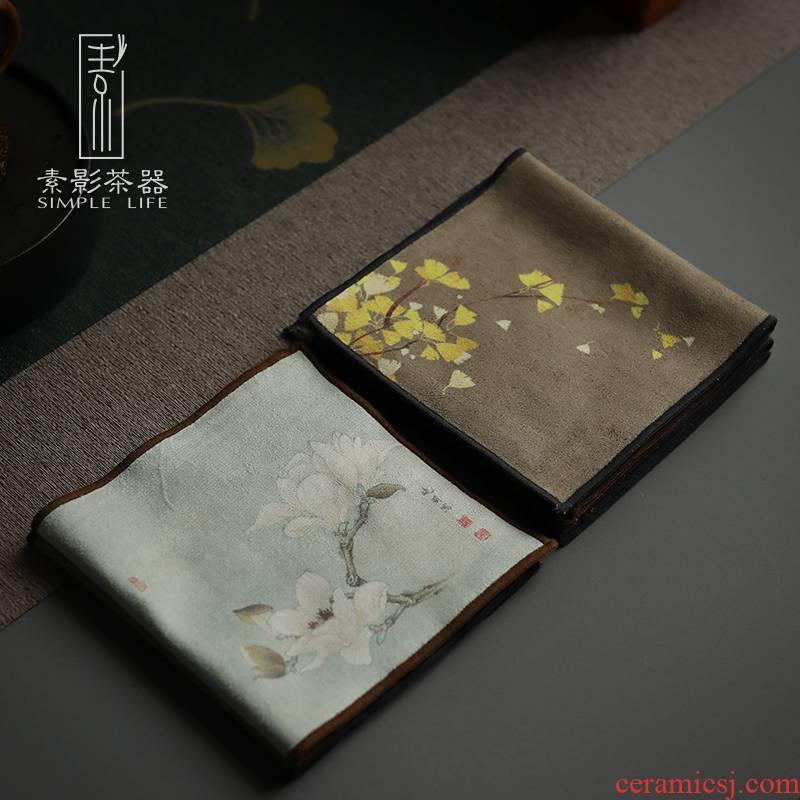 Plain film Chinese wind restoring ancient ways suction zen tea tea tea towel cloth kung fu tea pot pad velvet spare parts for the tea taking