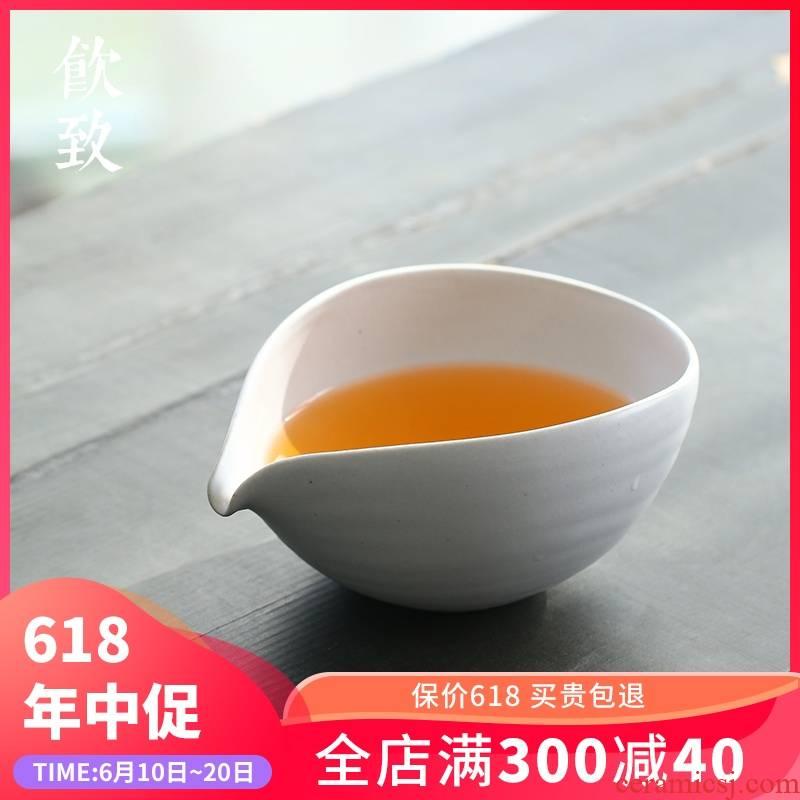 Ultimately responds to coarse pottery tea tea set ceramic fair keller large points move kongfu tea sea Japanese male cup restoring ancient ways
